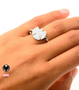 Bague Marvel Shield Inox avec gemme Taille 10 US