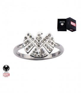 Marvel Shield Ring Stainless Steel Metal Us SIze 10