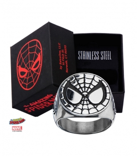 Marvel Spiderman Mask Ring Stainless Steel Metal Us SIze 10