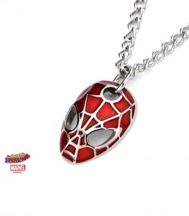 Pendentif Marvel inox rouge bombé masque de Spiderman
