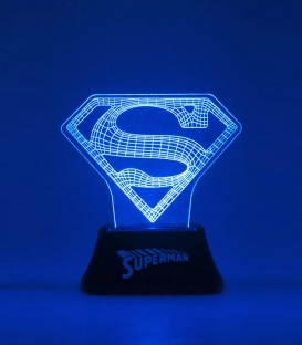 Lampe Superman Acrylique