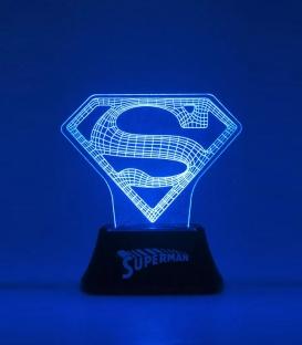 Lampe Superman Acrylique