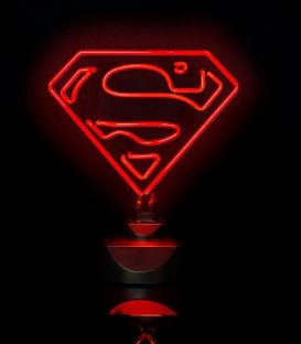 Lampe Superman Néon rouge DC Comics