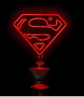 Superman DC Comics Neon Light Red Classic Outline