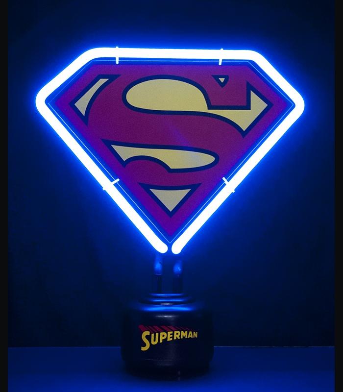 lampe superman n on dc comics. Black Bedroom Furniture Sets. Home Design Ideas