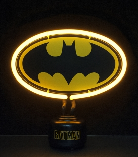 Batman DC Comics Small Neon Light Yellow Outline