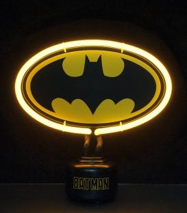 Batman DC Comics Small Neon Light Yellow Outline