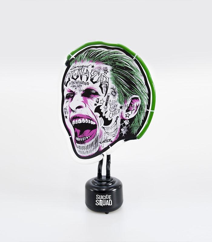 lampe suicide squad joker neon. Black Bedroom Furniture Sets. Home Design Ideas