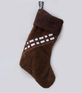 Chewbacca Star Wars Fleece Christmas Stocking Brown Chewbacca Outfit Woven Badge 47x30cm