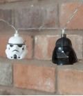 Stormtrooper and Darth Vader Star Wars 3D String Lights