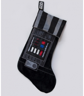 Darth Vader Star Wars Fleece Christmas Stocking Brown Chewbacca Outfit Woven Badge 47x30cm