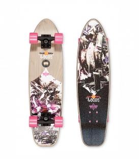 "Skate Dusters Locos Wisdom 29"" Pink Complete Longboard"
