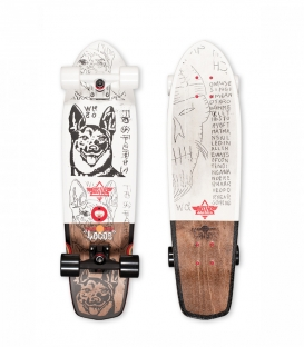 "Skate Dusters Locos Wong 31"" White Complete Longboard"