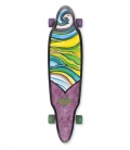 "Skate Dusters Floral Purple Green 37.5"" Complete Longboard"