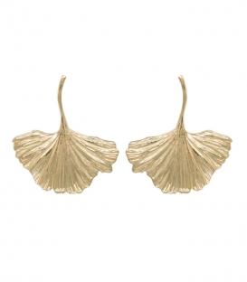 Boucles d'oreilles Ginko plaqué or