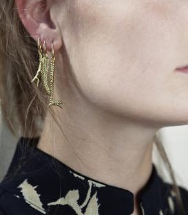 Boucles d'oreilles Single Branch plaqué or Anna + Nina