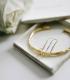 Bracelet Branch Cuff Brass plaqué or Anna + Nina