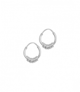 Boucles d'oreilles Multi Ring argent Anna + Nina