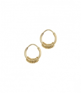 Boucles d'oreilles Multi Ring plaqué or Anna + Nina