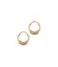 Multi Ring Earring Silver Goldplated