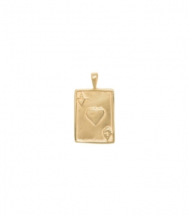 Ace Necklace Charm Goldplated