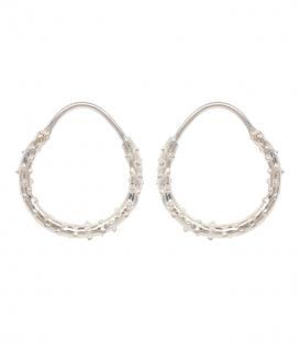 Boucles d'oreilles Puffer Ring argent Anna + Nina