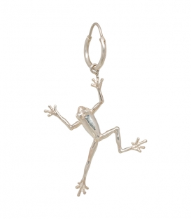 Single Frog Ring Earring Silver