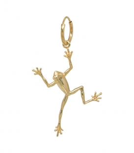 Boucle d'oreille Single Frog plaqué or Anna + Nina