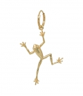 Single Frog Ring Earring Silver Goldplated