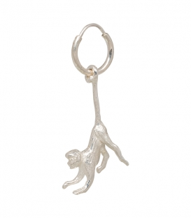 Single Monkey Ring Earring Silver