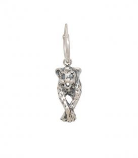 Single Leopard Earring Silver