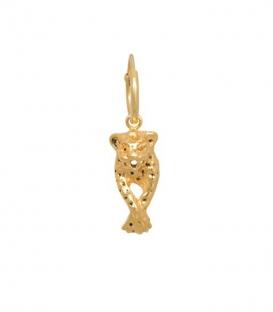 Single Leopard Earring Silver Goldplated