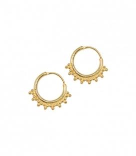 ANNA+NINA Tiny Goa Earring Silver Goldplated