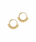 ANNA+NINA Tiny Goa Earring Silver Goldplated