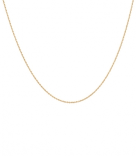 Twisted Plain Necklace Long plaqué or Anna + Nina