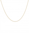 Twisted plain Necklace Charm Goldplated