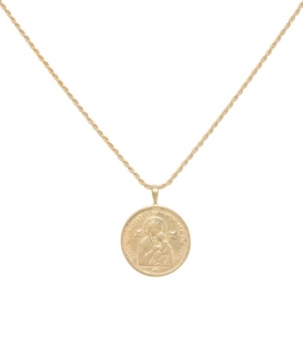 Madonna Necklace Charm Goldplated