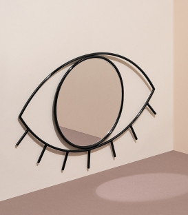 DOIY Cyclops Wall mirror M size black