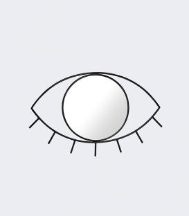 DOIY Cyclops miroir Taille M Black