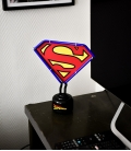 Superman DC Comics Small Neon Light Blue Outline