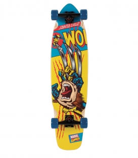 Skate Santa Cruz Complete Marvel Wolverine Hand Longboard 9.3 x 36