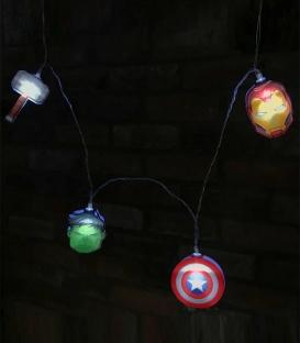 Guirlande lumières 2D Avengers Marvel en papier