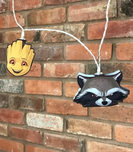 Dc Comics Guardians of the Galaxy Rocket Raccoon & Groot Mixed 2D String Lights