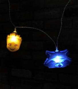 Guirlande lumières 2D Dc Comics Groot et Rocket Raccoon en papier