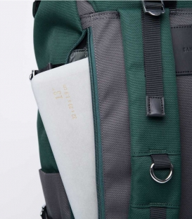 Sandqvist Harald Multi Deep Green Dark Grey Backpack