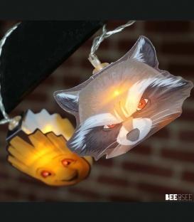 Guirlande lumières 2D Marvel Groot et Rocket Raccoon en papier