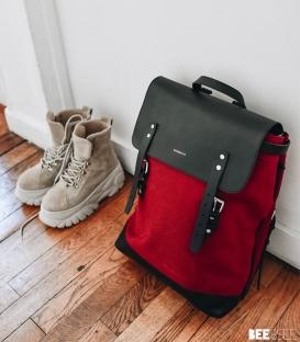 Sandqvist Hege Burgundy Backpack
