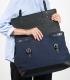 Sandqvist Jones Blue Briefcase