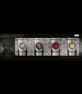 Game of Thrones 4 shot glasses set