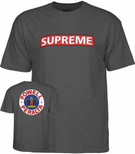 Supreme Heather grey T-shirt - Powell Peralta